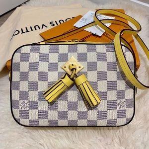 Louis Vuitton Saintonge Damier Azur Pineapple Bag